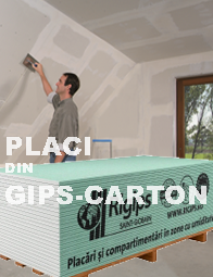 Placi din gips-carton Rigips RB / RBI (1200x2600x12,5mm)